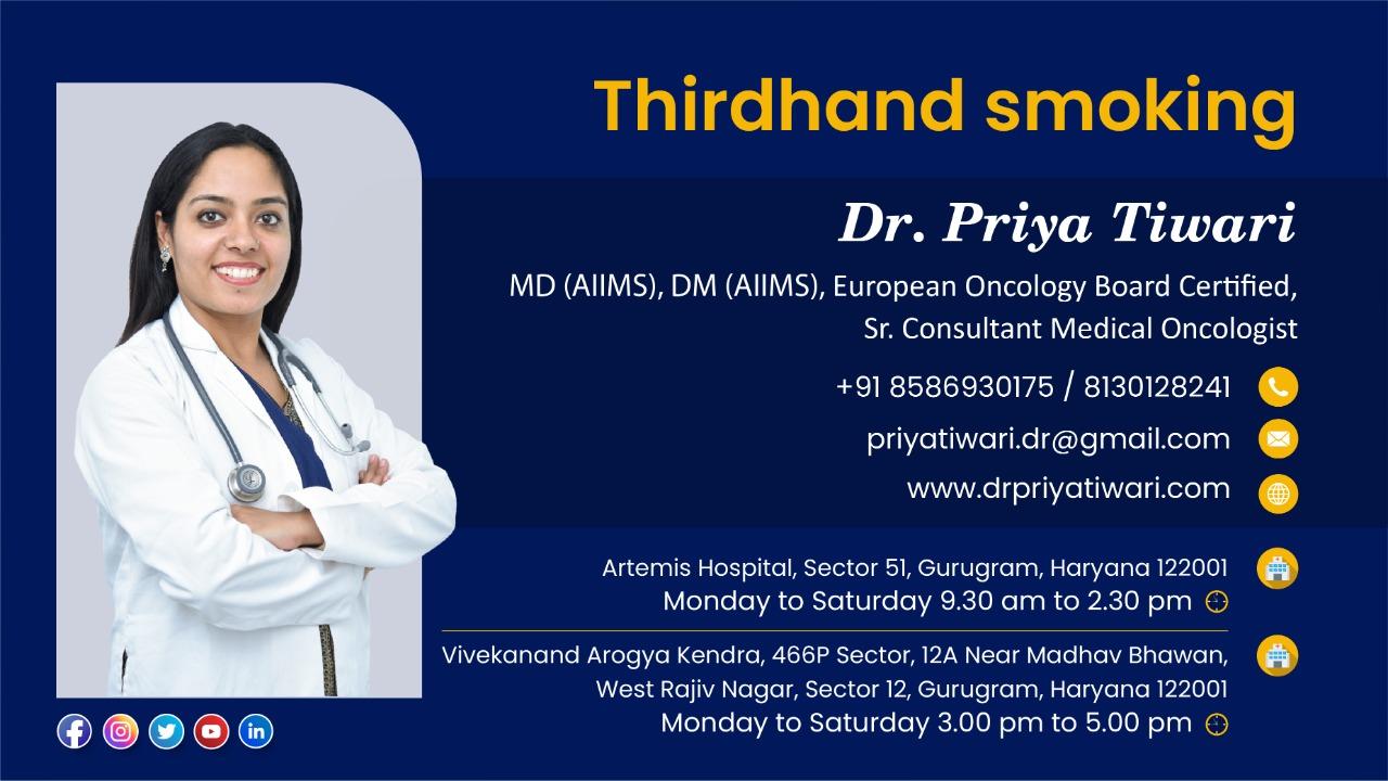 Thirdhand smoking (English) | Dr. Priya Tiwari