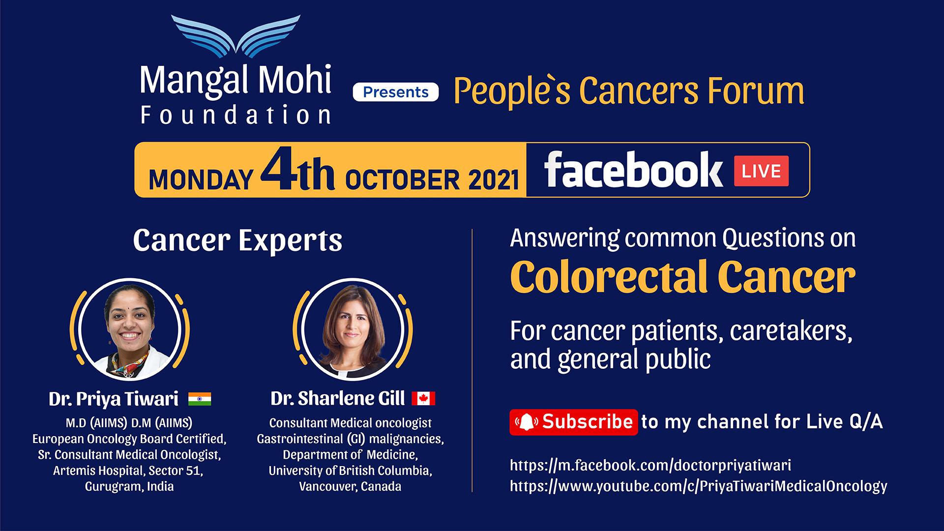 Live with Dr. Sharlene Gill (Cancer Expert from Canada) | Dr. Priya Tiwari